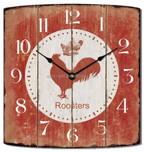 roosters black aluminum hands wall clocks for kitchen