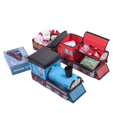jiahe decorative tomas stool kids folding storage box foldable toy box ottoman