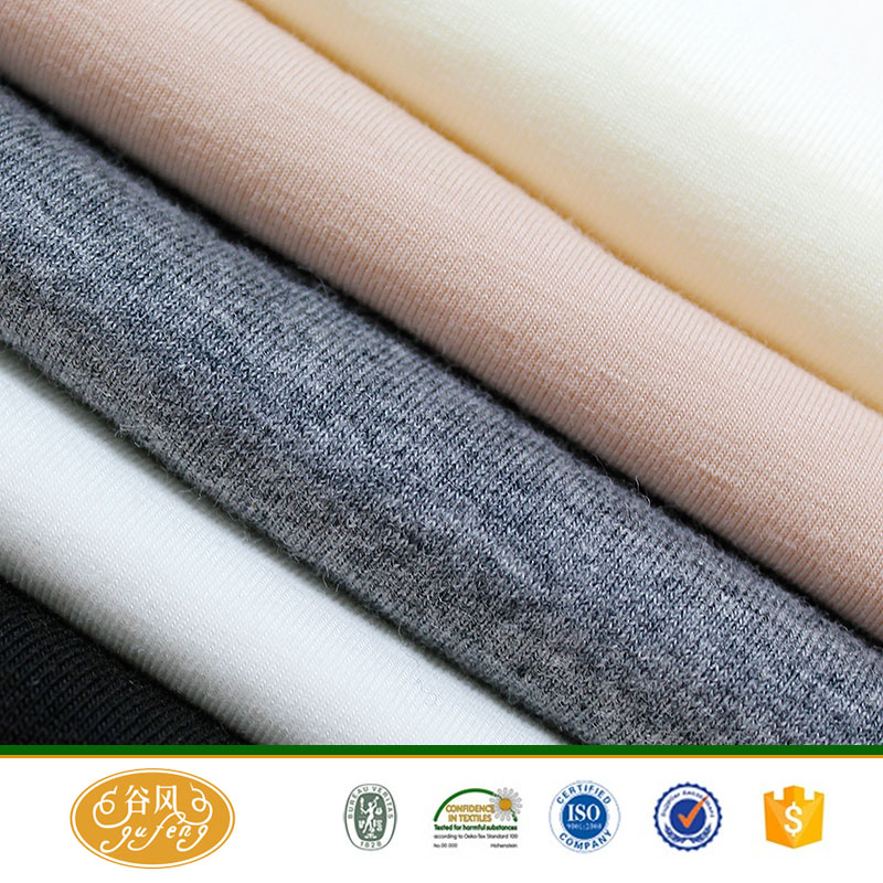 stretch spandex 100 cotton knit fabric for underwear/ tshirt fabric