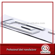Professioanl Auto Decoration Custom Made Strong 3M Adhesive Type ABS Plastic Separated Letter Chrome Car Emblem