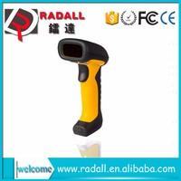 RD - 6870W Portable waterproof High decoding Wireless Laser USB Barcode Scanner Code reader Yellow with base