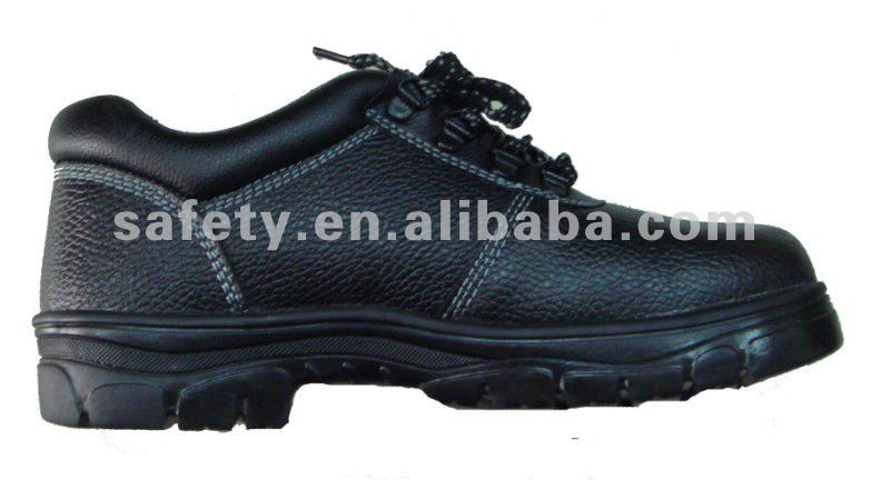 Men's work shoes protective steel toe cap and steel mid sole leather