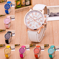 Wholesale three eye double layer literal Rome digital belt Watch