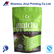 stand up ziplock bag package organic matcha green tea powder/aluminum foil matcha green tea powder bag pouch