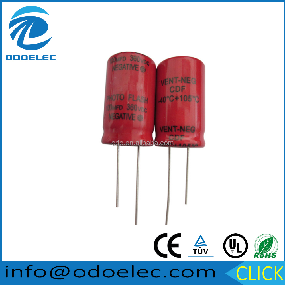 360v 100uf General Purpose Application and Aluminum Electrolytic Capacitor