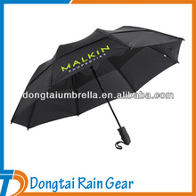 54cm*8ribs windproof air vent 3 fold umbrella with logo auto open close