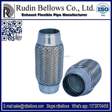 Ruian Rudin 45*150mm car auto parts exhaust flex pipe ( with interlock or innerbraid with muffler )