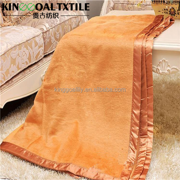 Queen/King Size Factory Sales with Needle triangle side whipstitch 100% Cotton Blanket colorful
