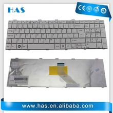 Hot selling Laptop keyboard for Fujitsu AH530 AH531 Russian white