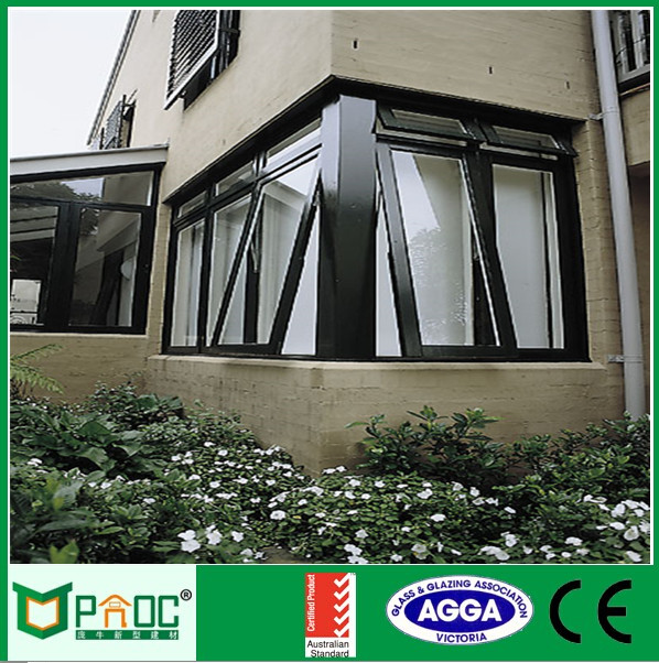 Residential awning windows for house/black awning window