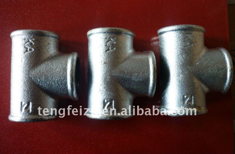 Concrete Pipe Tee : Galvanized cast iron pipe fitting tee for