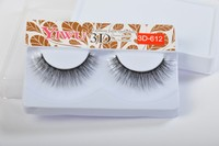 Synthetic fiber false eyelashes 3D-612 style fake eyelashes handmade type