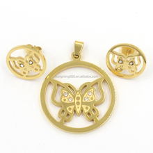 Wholesale 18k Gold Plated Jewelry Set Dubai Custom Women Jewelry Set