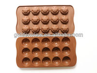 smile face silicone chocolate candy cookie mold mould ice cube tray pan