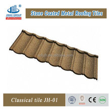 New building construction materials stone coated roof tile