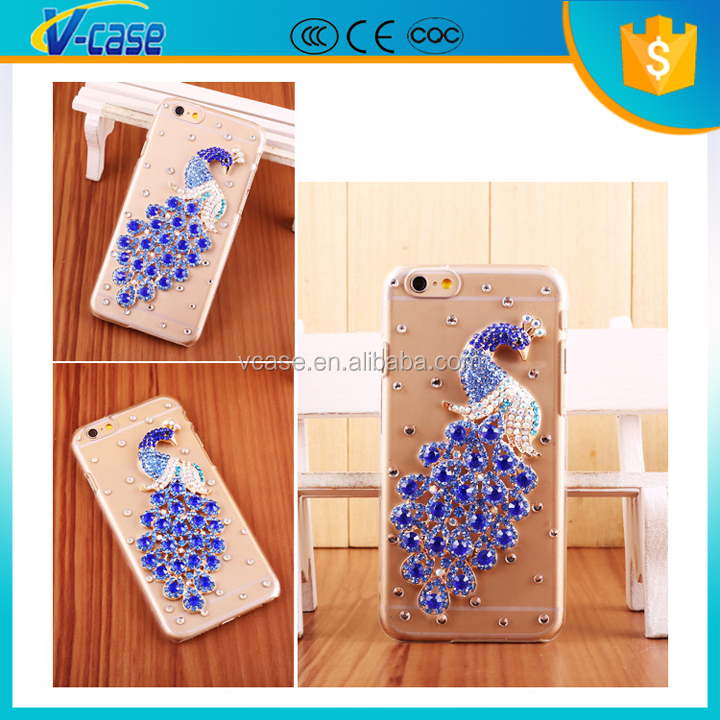 Crystal bling bling 3d animal mobile phone case from guangzhou