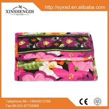 Hot sale colorful quilted fabric zipper cotton women's mini 2012 best mens wallet brands