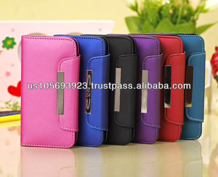 Wallet Credit Card Smart stand Leather Case Cover For Iphone 5c 5colors