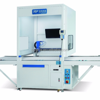 Intelligent recognition gluing machine