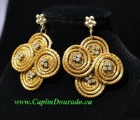 Capim Dourado Hand Made Craft GOLD GRASS Earrings