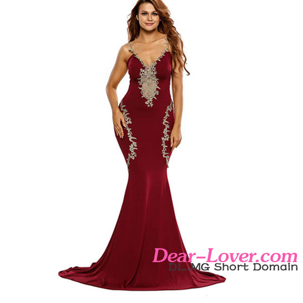 2017 Women Lace Red Party Dress Sexy Off The Shoulder Evening Dress