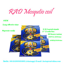 RAD China Fujian Factory Black Mosquito killer Mosquito repellent incense Mosquito Coil