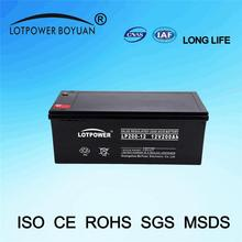 deep cycle battery 6volt guangdong china 12v 200ah smf battery LP200-12 for inverters