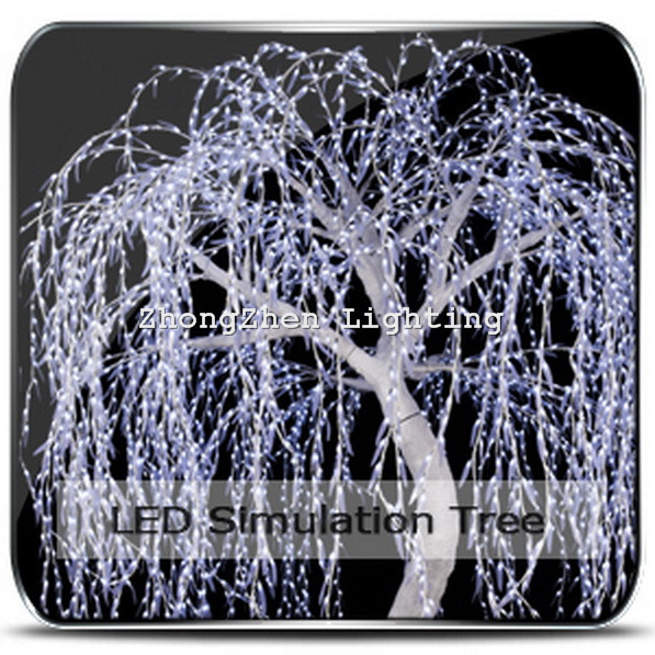 christmas led lighted willow tree