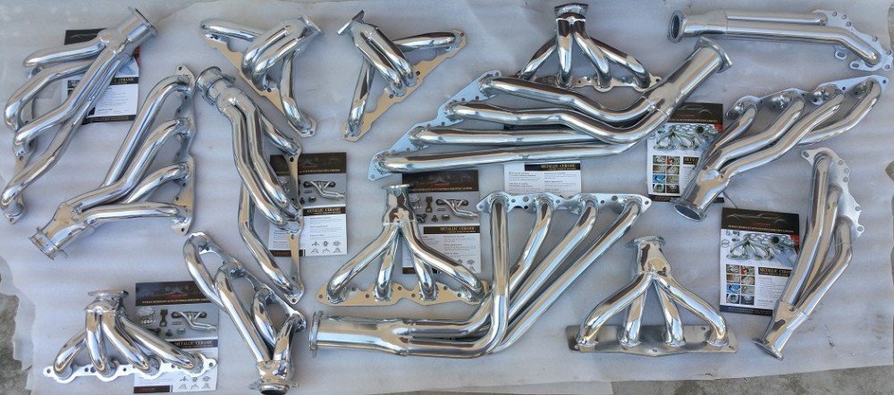 exhaust ceramic coating headers manifold header pipe Chevy BBC 454 HEAVY DUTY HEADER for 67-69 CAMARO w/ AIRCONDITIONING