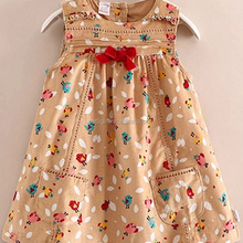 Cute Baby Kids New Style Dress Colorful Girls Cotton Dresses With Red Bow For Toddle Children Clothes Ready Stock GD40802-1