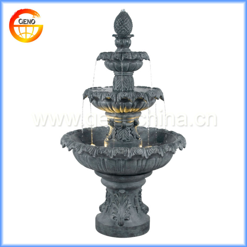 new garden water fountain with two tiers