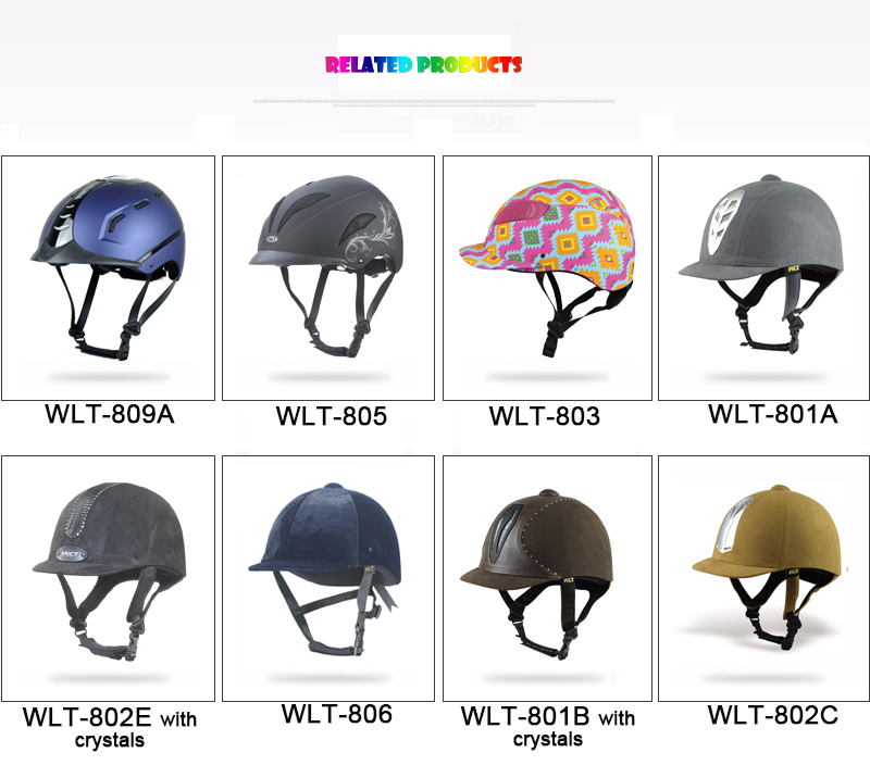 horse riding helmet WLT-803 BLACK