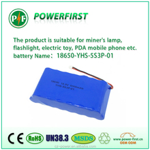 Rechargeable 5S3P 18650 6Ah 18V Li-ion Battery Pack for solar street light