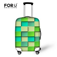 FOR U DESIGN Geometric Series 3D Effect Luggage Suitcase Covers Protection Trolley Bag Cover for Unisex