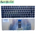 Hot Sale black with silver frame Laptop Keyboard for ASUS UL20 SP language Keyboard 04GNX62KSP00-3