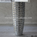 Decorative mirror resin vase for event,party&wedding favor ;Exquisite resin pillar wedding decoration with mirror surface(S-115)