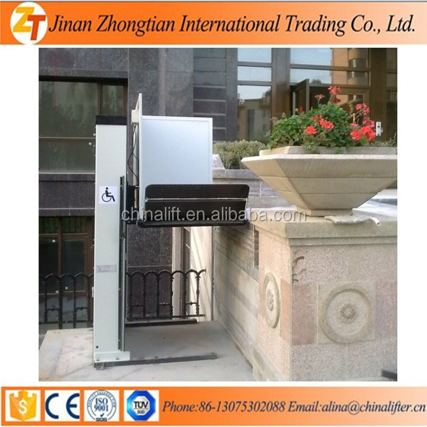ZHONGTIAN Brand electric suppliable home hydraulic power wheelchair lift