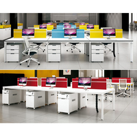 China Factory Price Modern Modular 2, 4, 6 Seater Office Workstation Desk For 6 Person People in Office Furniture