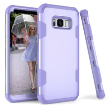Colorful Silicon Combo Case For Samsung Galaxy S8, Shookproof silicone armor Case for Samsung S8 phone shell