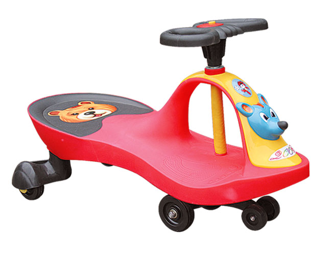 Selling yellow color F1 Shape baby walker/ Swing car With Children music /Baby Toys
