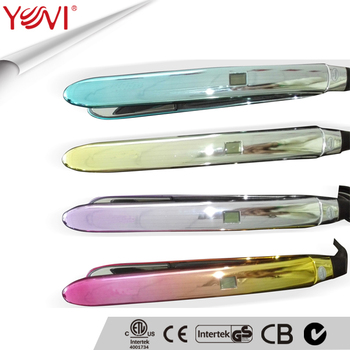 Hot selling Curve Titanium LCD hair straightener hair iron