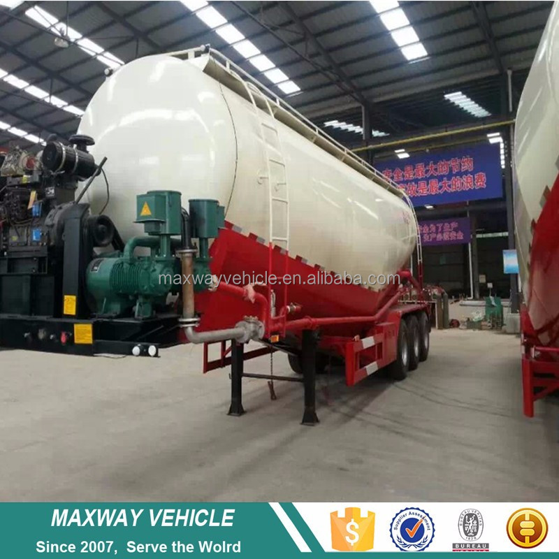 Best price China 3 axle dry bulk cement powder tank semi trailers for sale