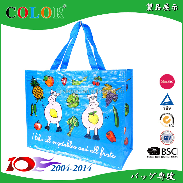 Recyclable Plastic bottle RPET recycle material Shopping Bag