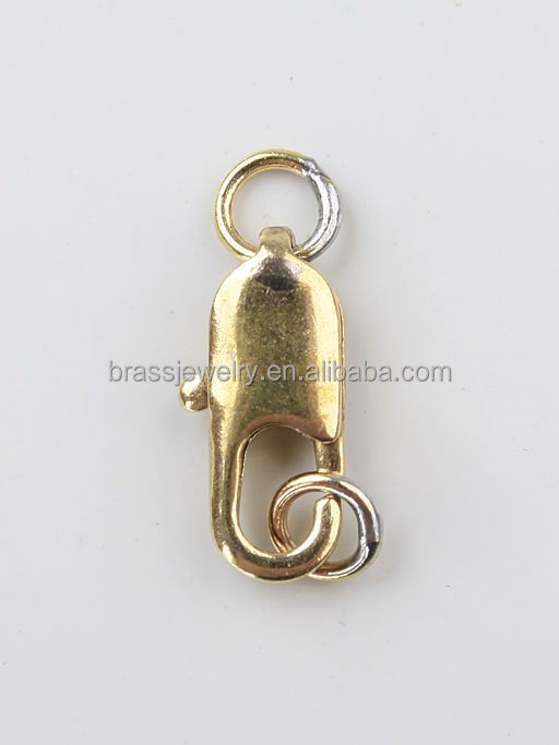 Jewelry findings manufacturers 14k gold filled metal brass jewelry parts lobster clasps for neckalce