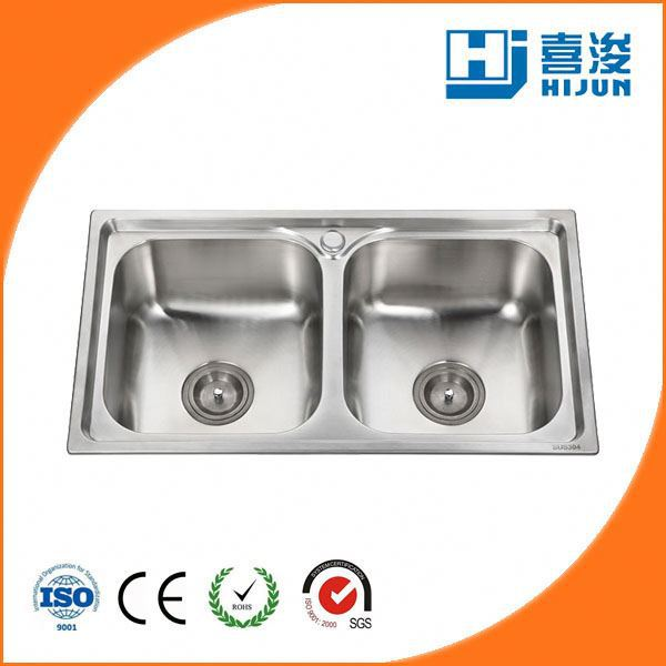good double drainer stainless steel kitchen sink