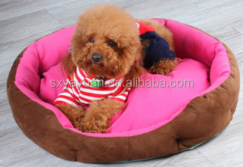 Warm and soft purple polar fleece pet bed for dog/pet accessories