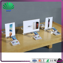 customized security Glass Smart Phone Store Lighted Acrylic Mobile Phone Display Showcase