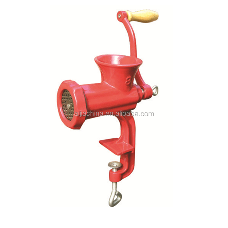 Manual meat mincer for domestic kitchen