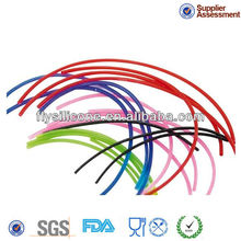 Colorful different size edible FDA&LFGB certificate heat resistance silicone hose tube for home and car