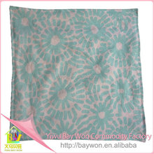 New china products for sale Flower Print applique work cushion cover my orders with alibaba